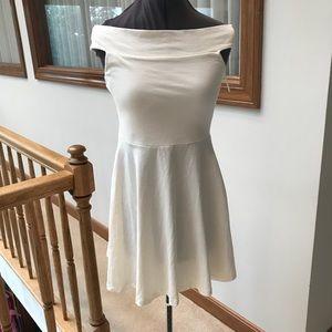ASOS New White Off Shoulder Skater Dress